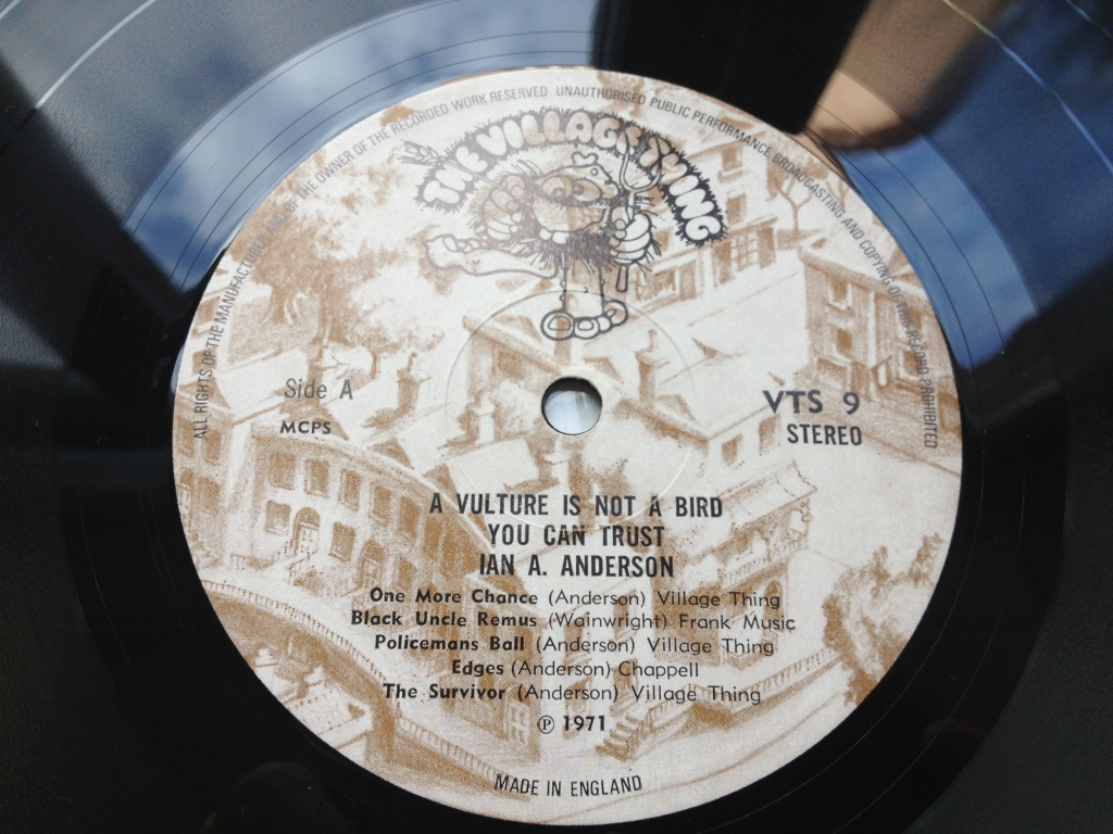 For sale: Ian A. Anderson - A Vulture Is Not A Bird You Can Trust UK 1971 Village Thing | Folk Rock