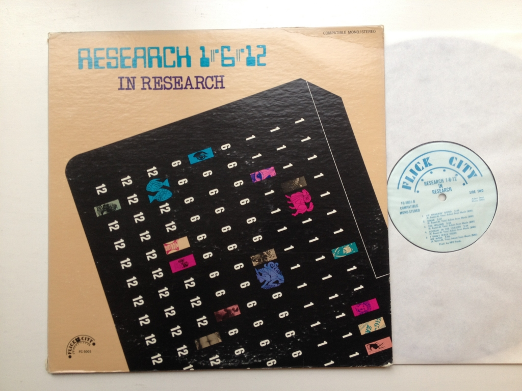 For sale: Research 1-6-12 - In Research US 1968 Flick City | Psych, Rock