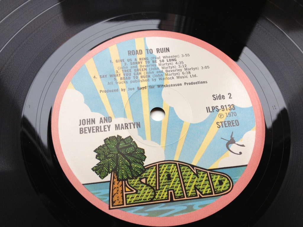 For sale: John & Beverley Martyn - The Road To Ruin  UK 1970 Island Records | Folk Rock