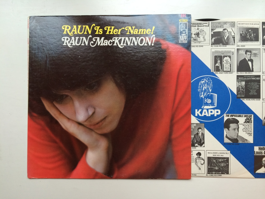 Raun MacKinnon - Raun Is Her Name! (US 1968 Kapp Records ‎KS-3556)