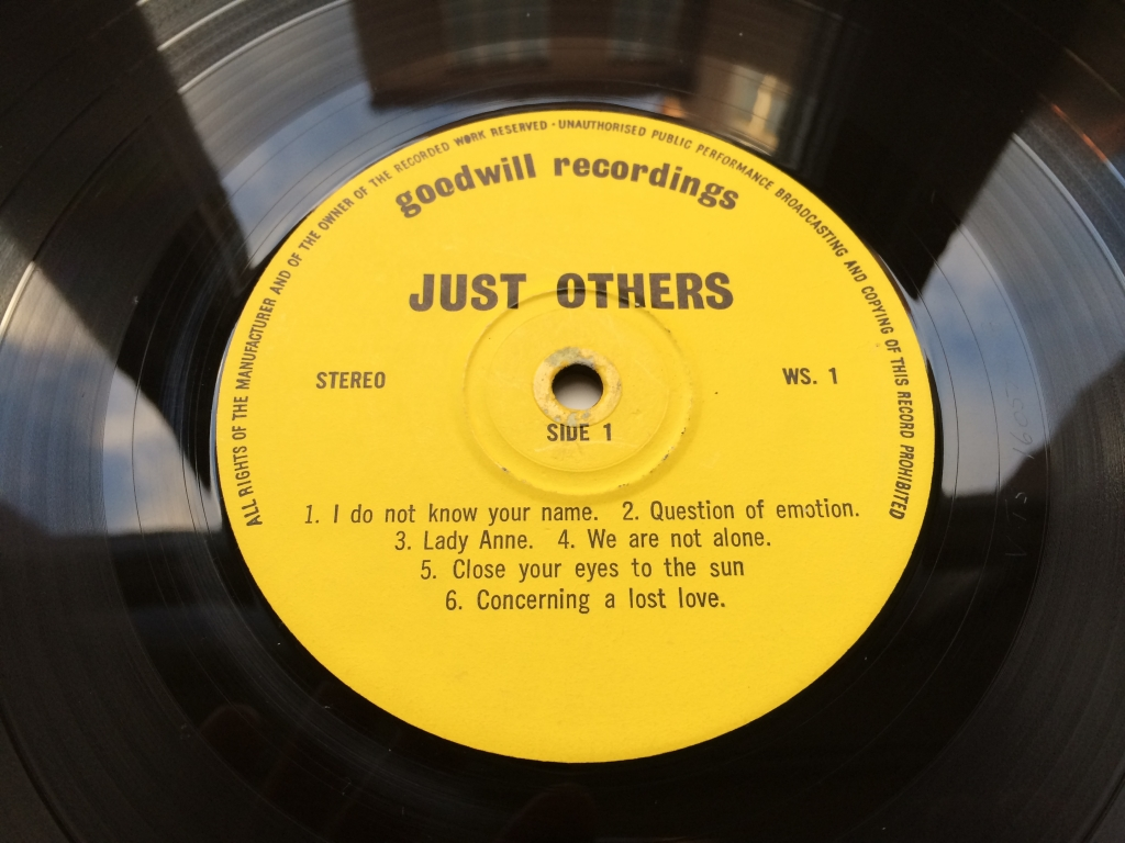 For sale: Just Others - Amalgam UK 1974 Goodwill Recordings | Acid Folk, Singer-songwriter