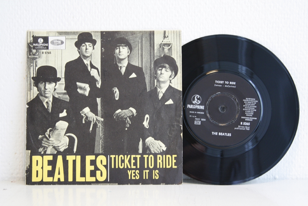 For sale: Beatles - Ticket To Ride / Yes It Is Sweden 1965 Parlophone | Beat, Rock