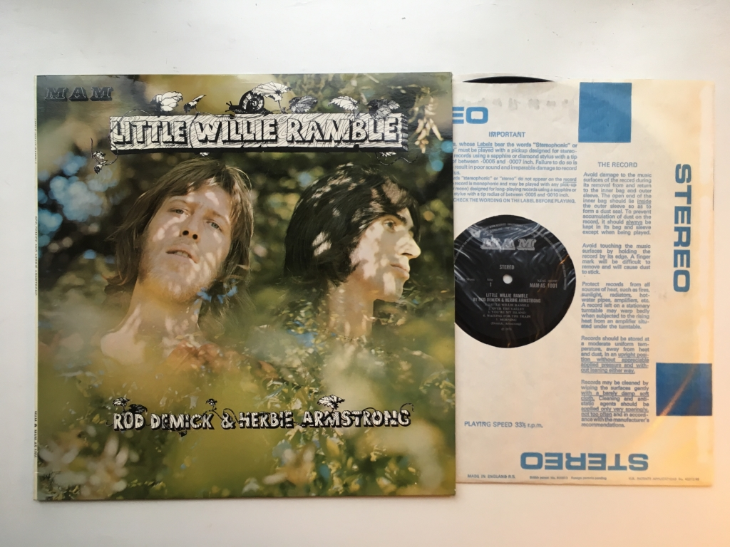 For sale: Rod Demick & Herbie Armstrong - Little Willie Ramble UK 1971 MAM | Folk Rock, Blues