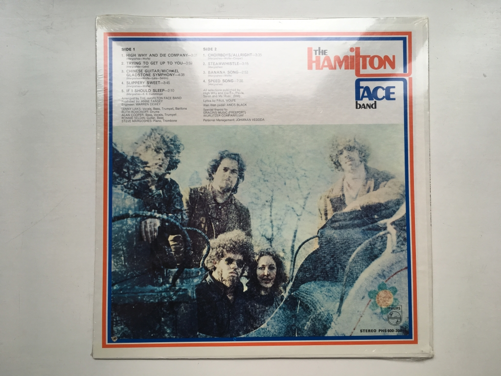 For sale: The Hamilton Face Band - The Hamilton Face Band US 1969 Philips | Psych, Rock