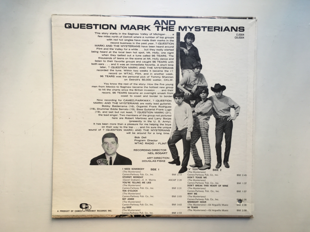For sale: Question Mark And The Mysterians - 96 Tears US 1966 Cameo | Garage, Rock, Blues