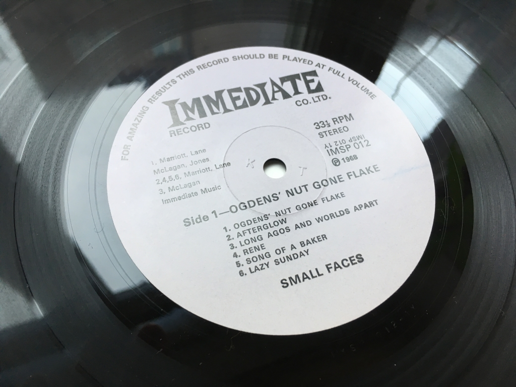 For sale: Small Faces - Ogdens' Nut Gone Flake UK 1968 Immediate | Psych, Rock, Mod