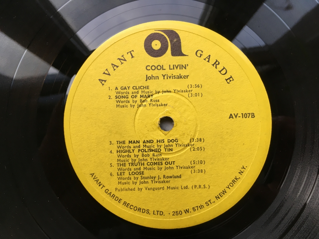 For sale: John Ylvisaker - Cool Livin' UK 1967  Avant Garde Records | Psych, Garage, Folk Rock