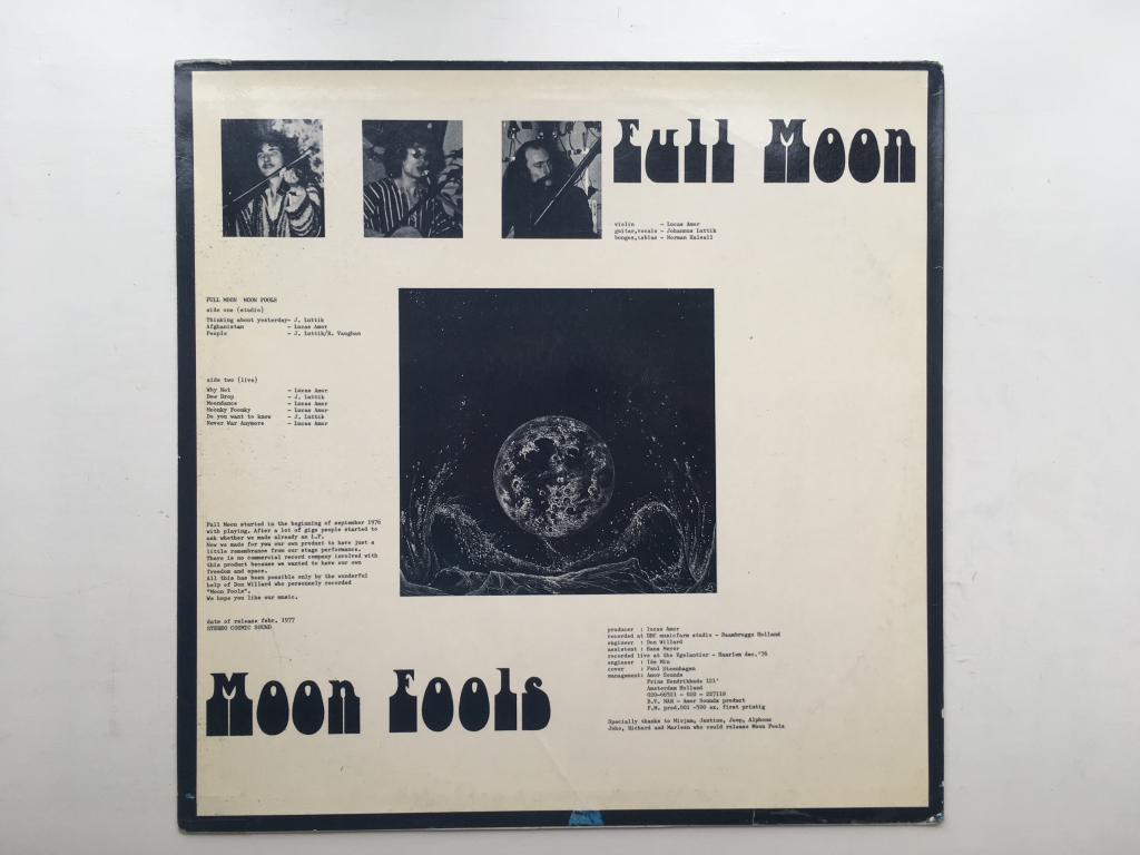 For sale: Full Moon - Moon Fools Netherlands 1977 Amor Sounds  | Psych, Folk