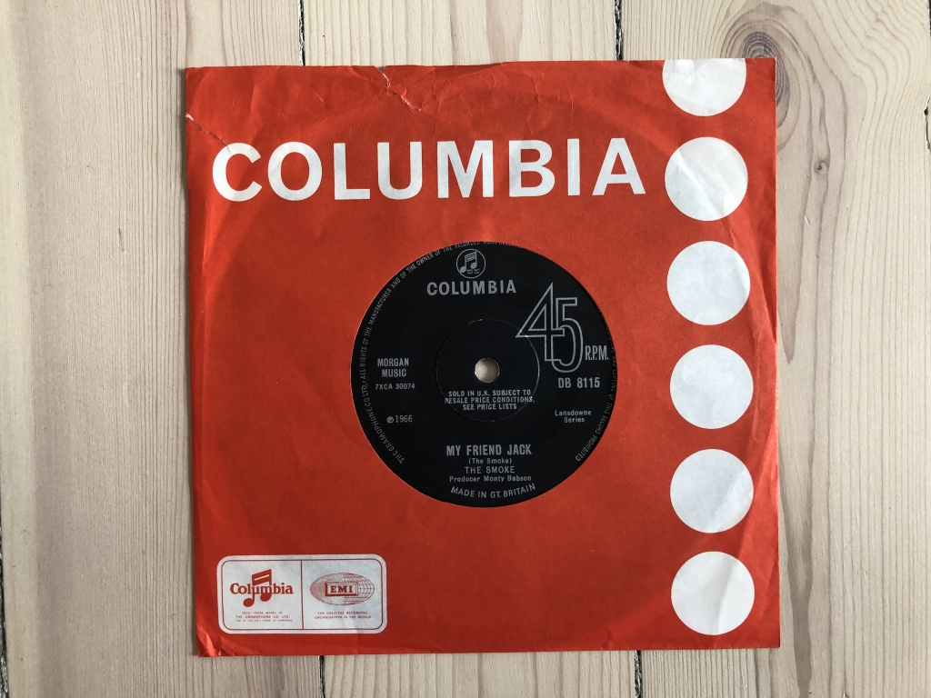 For sale: The Smoke - My Friend Jack UK 1966 Columbia | Psych