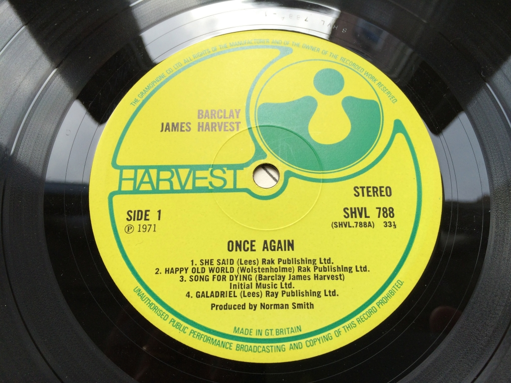 For sale: Barclay James Harvest - Once Again UK 1971 Harvest | Prog